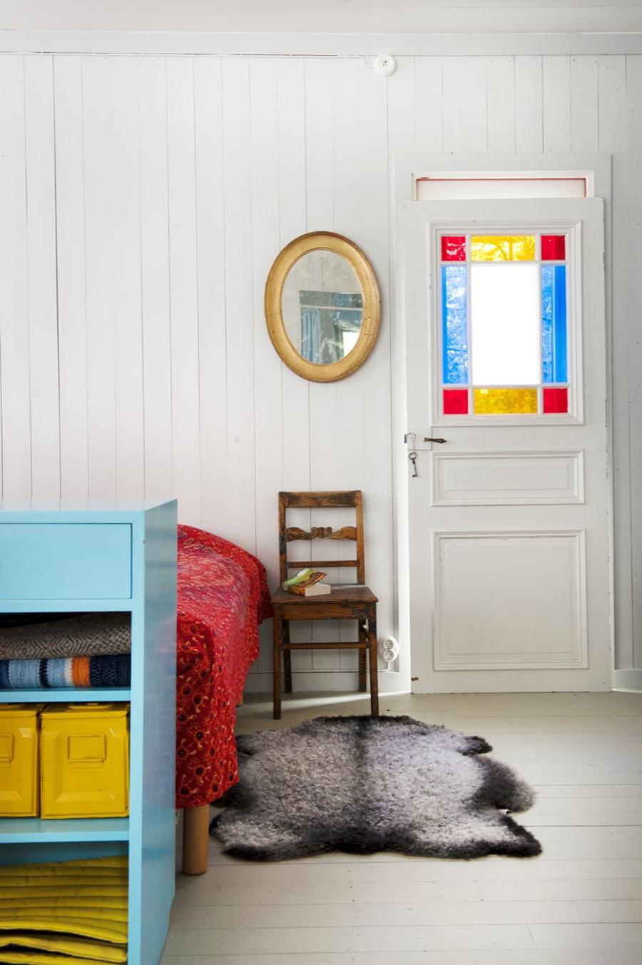 casa vintage azul